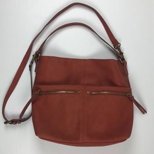 Sonoma Boho Hobo Burnt Orange Rust Purse Bag
